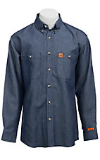 Wrangler® FR Denim Work Shirt- Big & Tall