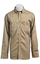 Wrangler® FR Khaki Work Shirt- Big & Tall