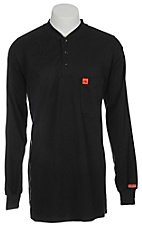 RIGGS® by Wrangler® Mens Navy Flame Resistant Long Sleeve Henley Shirt