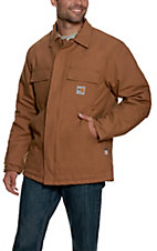 Carhartt Mens Brown Flame-Resistant Duck Traditional Coat