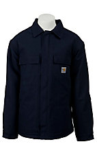 Carhartt Mens Navy Flame-Resistant Duck Traditional Coat
