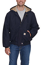 Carhartt Men?s Navy Flame-Resistant Duck Active Quilt-Lined Jacket