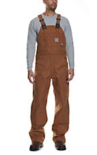 Carhartt Flame Resistant Brown Unlined Duck Bib Overall