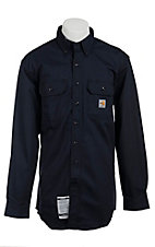 Carhartt® Flame Resistant Dark Navy Twill Shirt