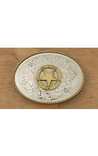 Montana Silversmiths® Two-toned Texas Star Oval Buckle