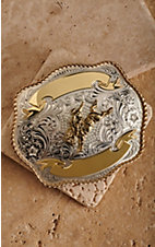 Montana Silversmiths® Two Tone Bronco Trophy Buckle