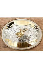 Montana Silversmiths® German Silver Large Oval Bullriding Buckle