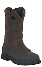 Georgia Boot Men's Mud Dog Steel Toe Slip-on Workboots - Brown