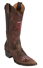 Gameday® Women's Texas A&M University Distressed Brown Embroidered Snip Toe Western Boots