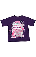 Girlie Girl® Girl's Purple Bein' A Cowgirl Is My Passion Short Sleeve Tee