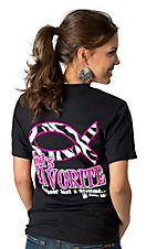 Girlie Girl® Women's Black with Pink and Zebra God's Favorite Short Sleeve Tee