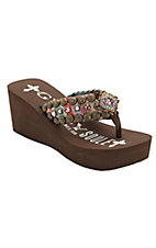 Gypsy Soule® Skipper™ Brown Antique Turquoise/Bronze w/Square Concho Flip Flops