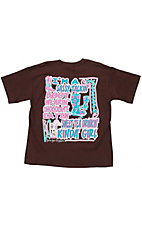Girlie Girl® Girls Sassy Talkin' Boot Wearin' Brown Short Sleeve Tee