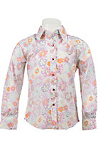 Wrangler® Girl's Multicolor Flower Print Long Sleeve Western Shirt