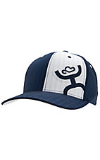 HOOey® Navy & White Pin Stripe w/ Logo Cap