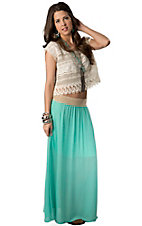 Karlie® Women's Mint Sheer Long Maxi Skirt
