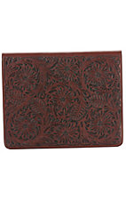 3D Belt Company® Tan Fancy Embossed Leather Ipad Case