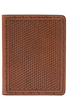 3D Belt Company® Tan Basket Weave Leather Ipad Case
