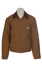 Carhartt Brown Blanket Lined Duck Detroit Jacket