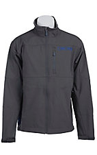Cinch Men's Char Grey with Blue Logos Bonded Jacket