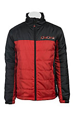 Cinch Men's Red & Black Puff Jacket J1026000