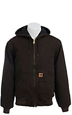 Carhartt® Dark Brown Sherpa Lined Sandstone Sierra Jacket