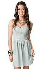 Cotton Express® Women's Light Denim Sleeveless Dress