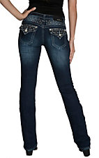 Grace in LA Women's Dark Wash with Sequins and Small Cr