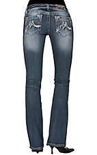 Miss Me® Womens Stitched M Open Pocket Boot Cut Jean