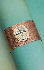 BRONZE 2 TONE CROSS CUFF