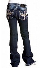 Miss Me® Girls Retro 60's Cross Wing Boot Cut Jean