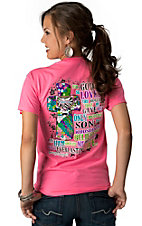 Girlie Girl® Women's Neon Pink John 3:16 Short Sleeve Tee