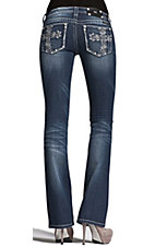 Miss Me® Ladies Garden Cross w/ Crystals & Studs Boot Cut Jean