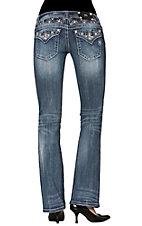 Miss Me® Women's Stars on Waist & Flap Pocket Boot Cut Jean
