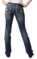 Miss Me® Ladies Fancy Cross Embroidery with Studs and Crystals Boot Cut Jean