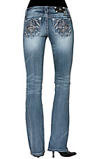 Miss Me® Women's Diamond Aztec Open Pocket Boot Cut Jeans