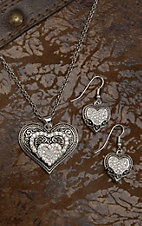 Montana Silversmiths® Vintage Charm Our Prairie Mothers Heart Jewelry Set