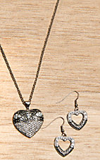 Montana Silversmiths® Vintage Charm Something Old Something New Heart Jewelry Set