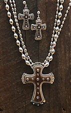 Montana Silversmiths® Brindle Cross Jewelry Set