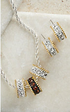Montana Silversmiths® Two-toned Small Hoop Jewelry Set
