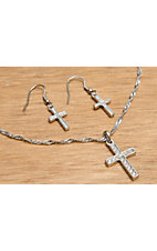 Montana Silversmiths® Clear Rhinestone Cross Jewelry Set