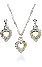 Montna Silvermsiths® Tiny Encrusted Hearts Set
