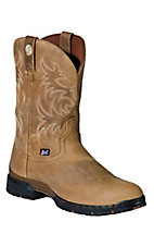 Justin® George Strait™  Mens Tan Brown Gaucho Slip-On  Waterproof  Performance Boot