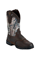Justin® George Strait™ Ladies Chocolate Timber Slip-On Waterproof Performance Boot