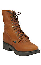 Justin Mens Original Lace-up Workboots - Copper Caprice