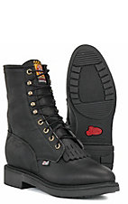 Justin® Mens Original Lace-up Workboots - Black Pitstop