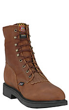 Justin® Mens Original Steel Toe Lace-up Workboots - Aged Bark