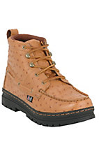 Justin Original Workboots Men's Tan Ostrich Print Chukka