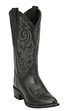 Justin Men's Black London Calf Classic Western Boots