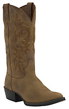 Justin® Stampede Collection™ Mens Tan Puma Traditional Toe Western Boots